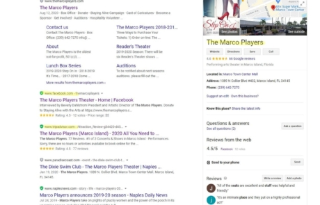 SEO and Website Maintenance - The Marco Players Theater