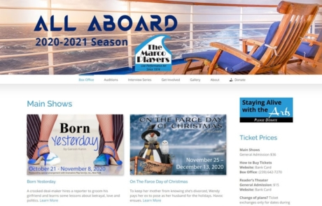The Marco Players Website Development - Paradise Web Marketing Services