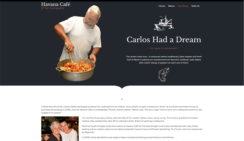 Copywriting for Havana Cafe by Paradise Web