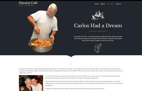 Copywriting for Havana Cafe by Paradise Web