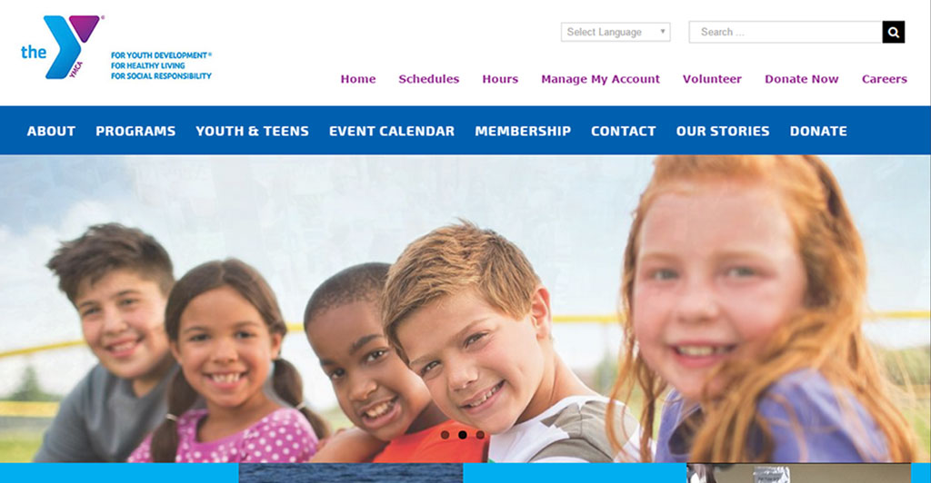 YMCA of South Collier Website by Paradise Web