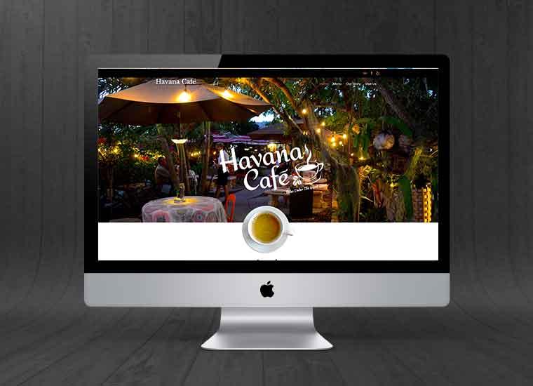 Havana Cafe Website by Paradise Web