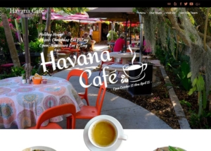 Website Design for Havana Cafe by Paradise Web