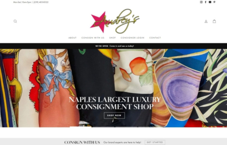 Website Design Developments Audreys of Naples Paradise Web Services