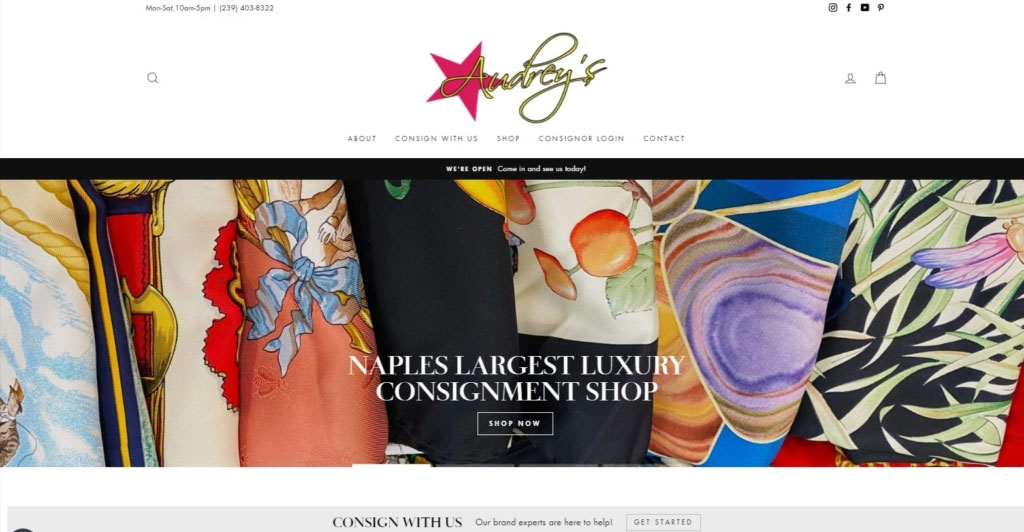 Website Design Developments Audreys of Naples Paradise Web Services