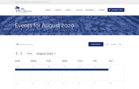 Calendar Integration | Marco Shore Estates