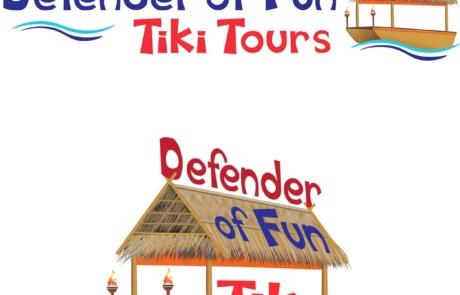 Logo Design Defender of Fun Tiki Tours Paradise Web Marketing Services