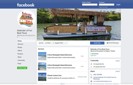 Social Media Defender of Fun Tiki Tours Paradise Web Marketing Services