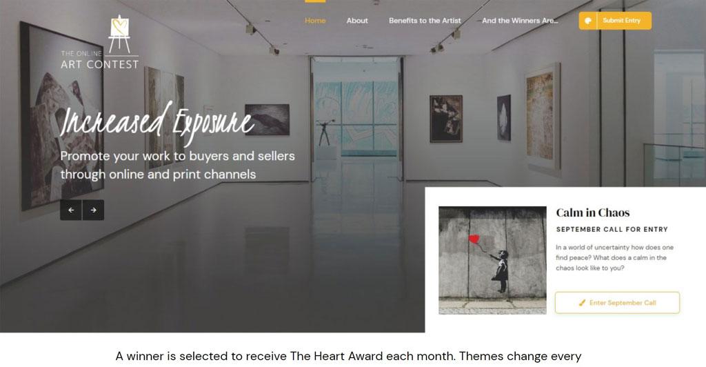 Website Development The Online Art Contest Paradise Web Marketing Services