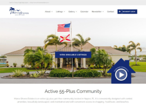 Website Development - Marco Shore Estates Paradise Web Marketing Services
