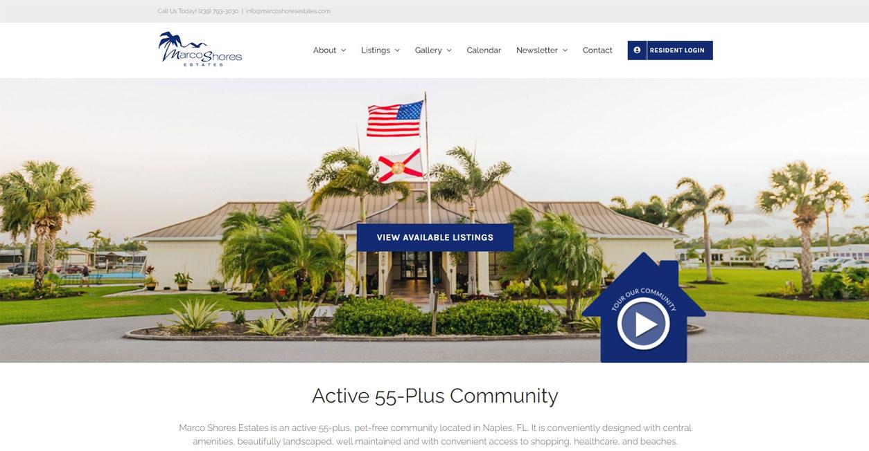 Website Development - Marco Shore Estates Paradise Web Marketing Services