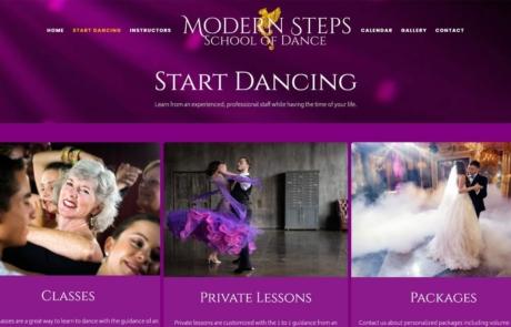 Website Redesign - Modern Steps School of Dance