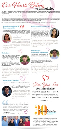 The Immokalee Foundation Print Ad Paradise Web Graphic Design Services