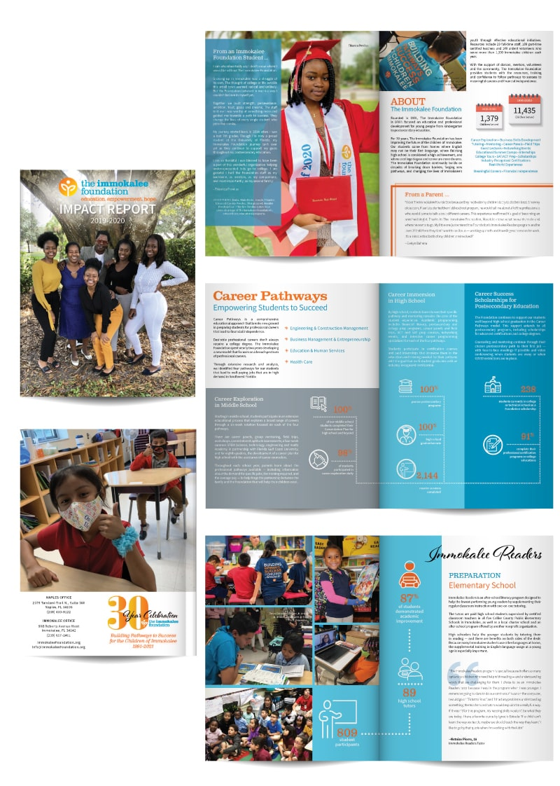 The Immokalee Foundation - Annual Report Layout